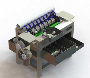 PKM – Mesin Pembersih dan Pengupas Kulit Telur Puyuh Semi-Otomatis – UKM