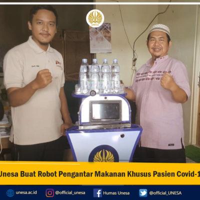 Unesa Buat Robot Pengantar Makanan Khusus Pasien Covid-19