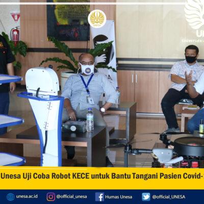 Unesa Uji Coba Robot KECE untuk Bantu Tangani Pasien COVID-19