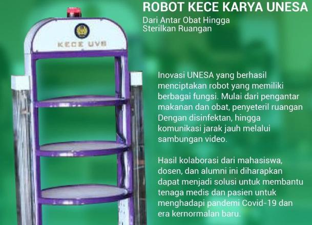 UNESA dengan robot KECE Gen 3 : Fokus keamanan robot dan data pasien – Coming Soon