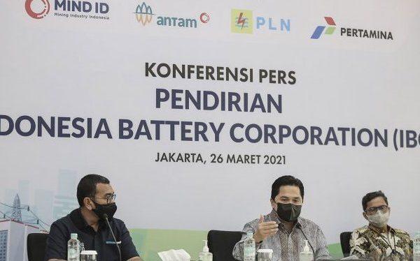 Holding Baterai : RI Bidik Produksi Baterai 140 GWh di 2030